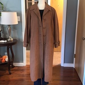 Union made non leather suede trench coat